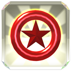 Trophy icon for collecting Red Star Rings.