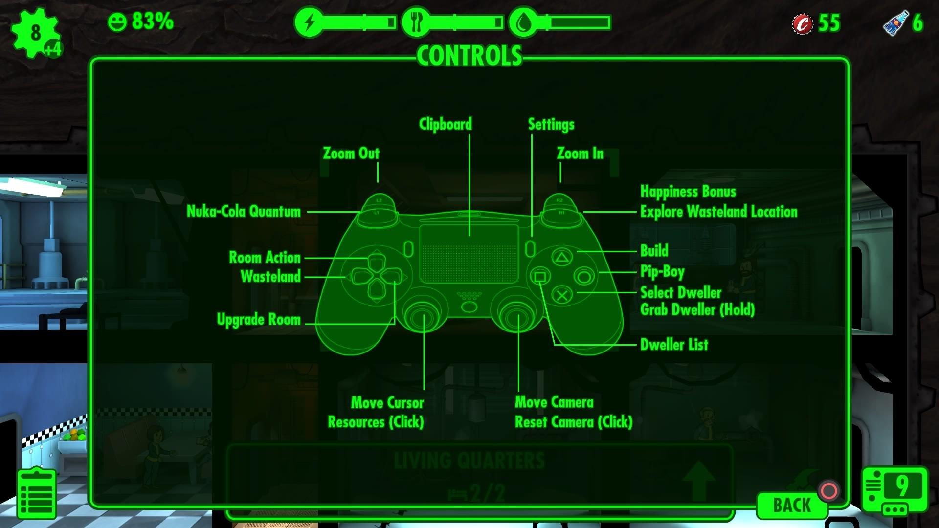 Ps Fallout  Building Controls