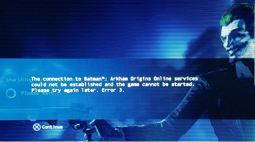 Batman Arkham Origins multiplayer matchmaking problemen